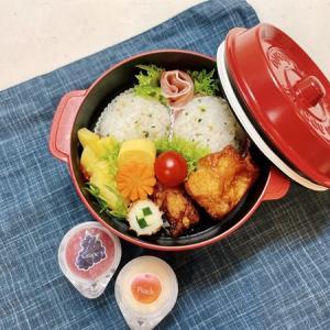 6月24日(木) 青菜のまん丸おむすびと2種のからあげ弁当