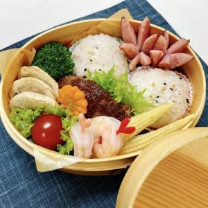7月2日(金) 鮭わかめのまん丸おむすびとおろしハンバーグ弁当