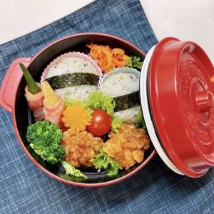 7月5日(月) 青菜のまん丸おむすびとからあげ弁当