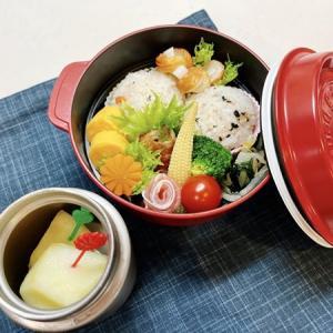 7月7日(水) 鮭わかめのまん丸おむすびと豚バラアスパラ巻弁当