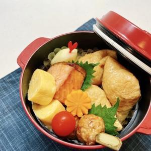 9月6日(月) こいなりさんと焼き鮭、つくね串弁当