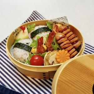 9月9日(木) 鮭わかめのまん丸おむすびとマッシュルームソテー弁当
