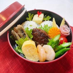 9月10日(金) 青菜のまん丸おむすびと黒毛和牛のおろしソースハンバーグ弁当弁当