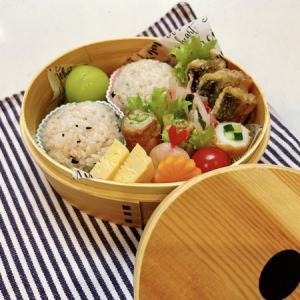 9月15日(水) 鮭わかめのまん丸おむすびと豚ロースのアスパラ巻弁当