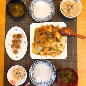 ✳︎鮭のちゃんちゃん焼きと揚げシュウマイ✳︎