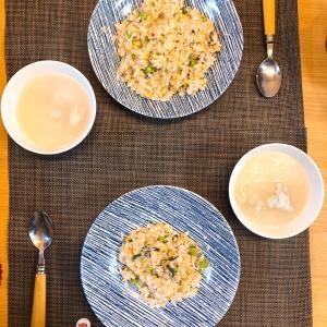 ✳︎しらすと小松菜の炒飯と冬瓜チキンスープ✳︎