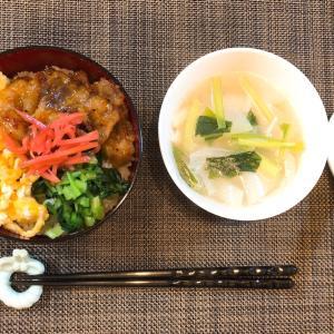 ✳︎焼肉三食丼と水餃子スープ✳︎