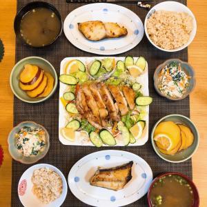 ✳︎チキンソテーサラダと銀鱈の西京焼き✳︎