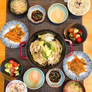 ✳︎豚バラと白菜の重ね煮と舞茸きんぴら✳︎