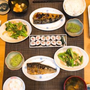 ✳︎鯖の塩焼きと海老野菜炒め✳︎