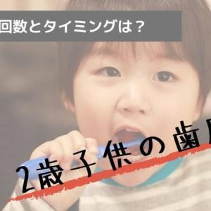 2歳の子供に歯磨きをするなら?最適な回数やタイミングはどうなの?