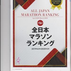 2019年度全日本マラソンランキングが公表された。