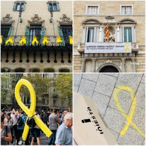 バルセロナの街になぜ黄色いリボン?どんな意味?