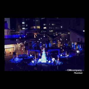 テラスモール湘南のクリスマスイルミネーション。今日はお休みします。