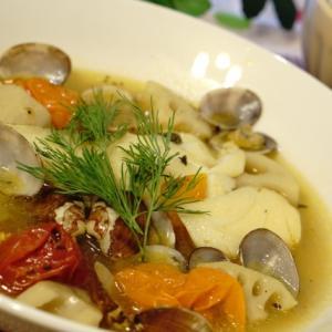 料理レシピをフリー画像でお届け!!(簡単・赤魚のアクアパッツァ)