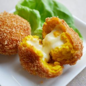 かぼちゃコロッケ♪とろ~りチーズがたまらない!!!レシピあり