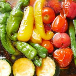 夏野菜の揚げびたし♪ ボーソー米油で美味しさ長持ち!