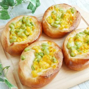 季節のものを美味しく食べたい!枝豆とコーンのパン♪