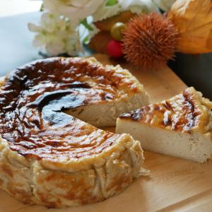 バスク風チーズケーキと栗をコラボ。絶品!栗バスチー♪