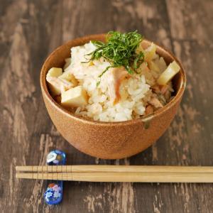 【今が旬】北海道産生秋鮭で!鮭とタケノコの炊き込みご飯♪
