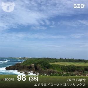 ラウンド振り返り@エメラルドコーストゴルフリンクス(19/7/5)晴強風