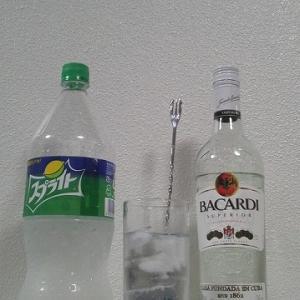 【カクテルレシピ】 自宅でカクテル 190杯目 「ラム・スプライト」