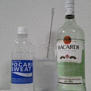 【カクテルレシピ】 自宅でカクテル 391杯目 「ラム・ポカリスエット」