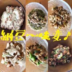 納豆を美味しく【6種類】味変しちゃいました♪