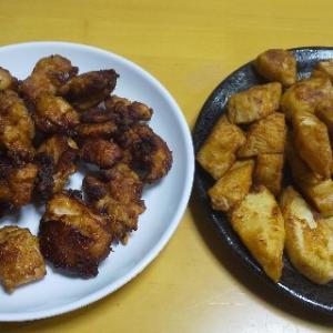 タケノコの唐揚げと鶏の唐揚げ