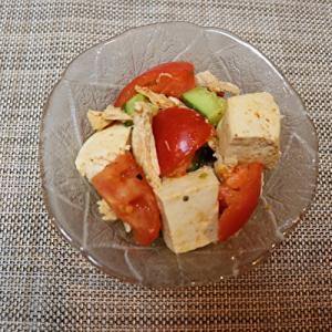 ささみと豆腐の複雑中華味サラダ