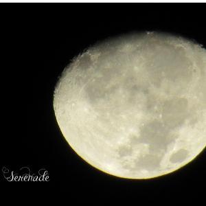 12月の月齢12日のお月さまと大三角