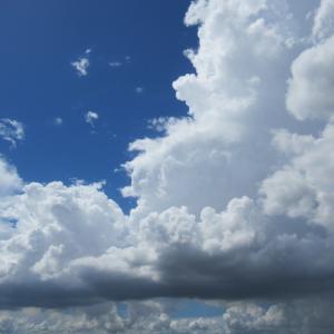 ある日の雲 手の伸ばして来る