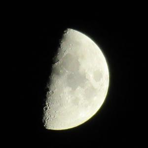 10月 月齢7.57 真っ黒くっきり