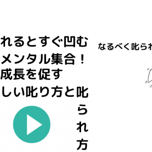 【豆腐メンタル向け】マインドセット的正しい叱り方&叱られ方!【失敗しても凹まない】