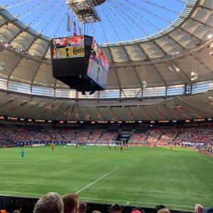 サッカー観戦に行ってきた!@BC Place: Vancouver Whitecaps vs. Toronto FC