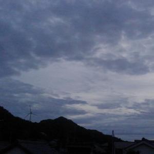 台風が来る前に