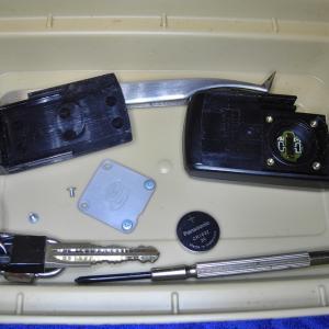 スマートキーの電池交換と眼鏡