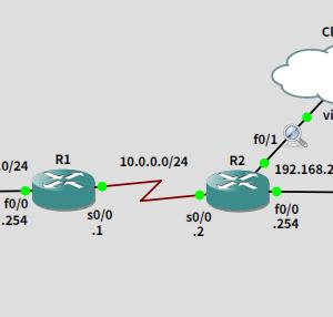 GNS3で練習 PPP RADIUS認証を試してみる
