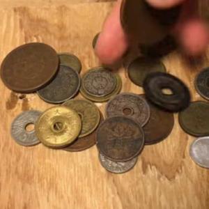 コインリング 古銭の指輪 の作り方 How to make a Japanese coin ring.