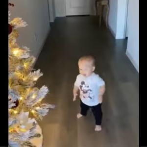 クリスマスツリーのランプをつけたら大喜びする子供が可愛すぎるwwwwww