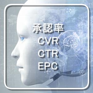 承認率、CVR、CTR、EPC
