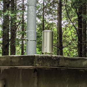 地蔵雨量観測所:分水嶺の西側でした