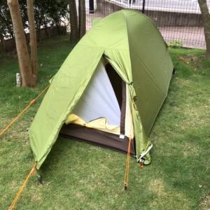 テント設営の練習