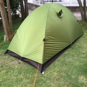 強風時のテント設営訓練