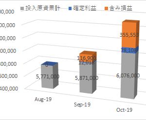 2019年10月末 株式運用成績