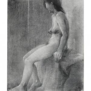 「裸婦」1975年 木炭デッサン