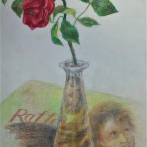 「薔薇」色鉛筆