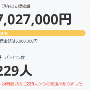 「WORLD END ECONOMiCA」のクラウドファンディング、わずか半日で目標の500万円を達成!(すごい)