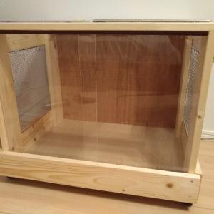 【DIY】フトアゴヒゲトカゲ用格安軽量木製ケージの作り方