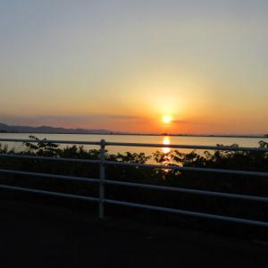 児島湖の夕焼け